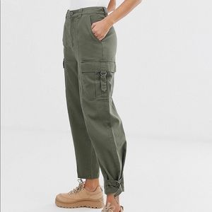 ASOS DESIGN twill utility combat pants in size 6